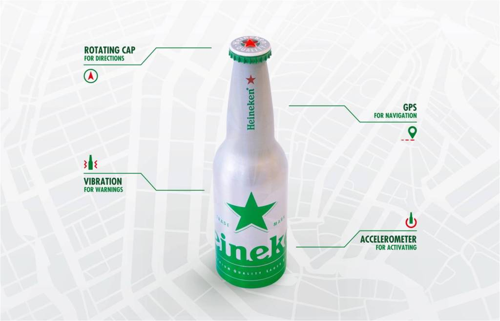 Heineken bottle GPS