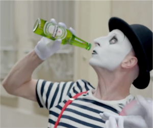heineken the insider paris mime