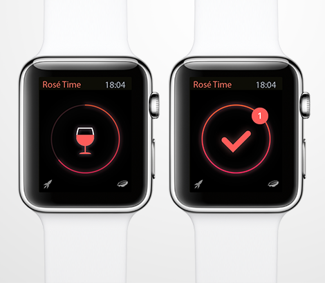 Rosé Time apple watch white